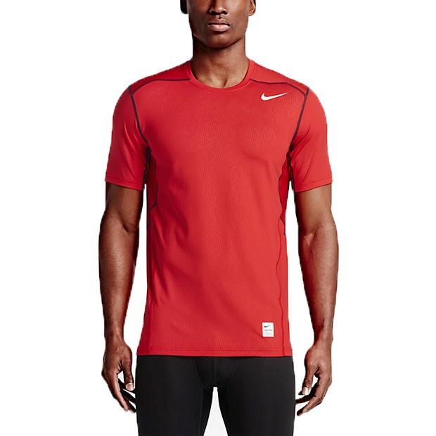 Nike Pro Hypercool Fitted Herren T-Shirt Laufshirt Sportshirt University Red