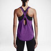 Nike Elastika Keyhole Veneer Damen Tank Top Sportshirt Fitnessshirt Shirt Cosmic Purple – Bild 2
