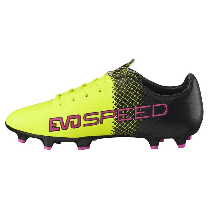 Puma evospeed 4.5 Tricks FG Herren Fußballschuhe Schuhe pink/safety yellow/black