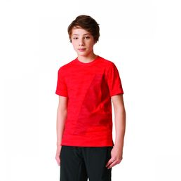 adidas Performance Athletics Heather Basic Tee Kinder T-Shirt Sportshirt Red
