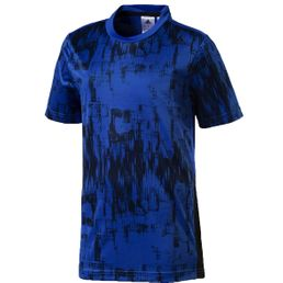 adidas Performance Kinder T-Shirt Tasto PES TEE Sport Shirt Blue/Black