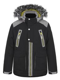 Icepeak Rubert Jr Kinder Jungen Winter Jacke Parka anthrazit Winterparka