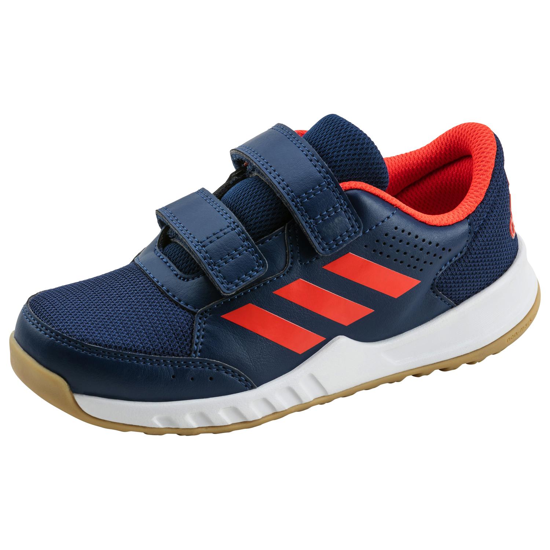 adidas Kinder Hallenschuh INTERPLAY 2 K blau / rot, Größe:35.5