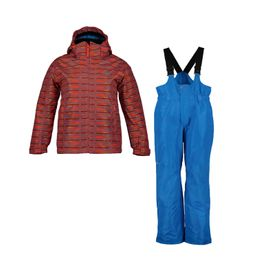 McKinley Kinder Schneeanzug Timber + Ray Red/AOP/Blue Royal