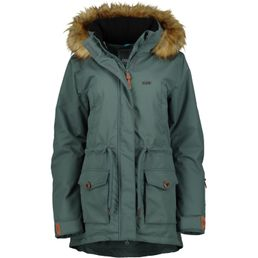 CNSRD Flora Damen Winter Kurzmantel smoke