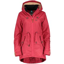 CNSRD Charlotte A Coat Damen Winter Kurzmantel fuchsia dots