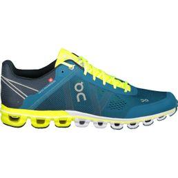 ON Cloudflow Herren Laufschuhe Running Schuhe petrol neon