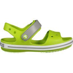 Crocs Crocband Sandal Kids Jungen Sandalen volt green/smoke