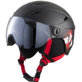 Tecno Pro Jungen Skihelm Pulse JR S2 Visor Black/Red – Bild 1
