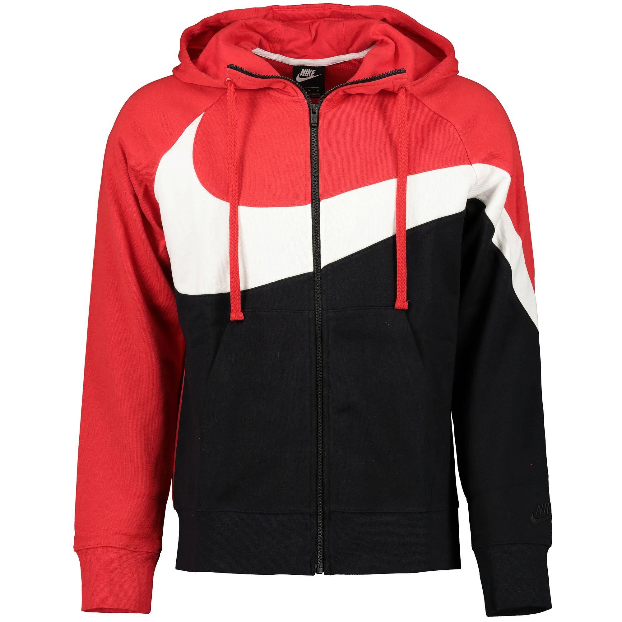 Nike Hbr Hoodie Fz Herren Kapuzen Sweatshirtjacke University Red