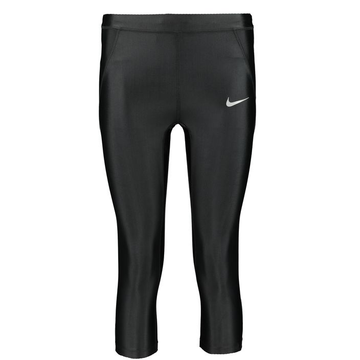 Nike PWR Speed Capri Damen 3/4 Laufhose Funktionshose black