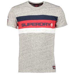 Superdry Trophy Tee Freizeit T-Shirt Herren Chrome Grey Grit