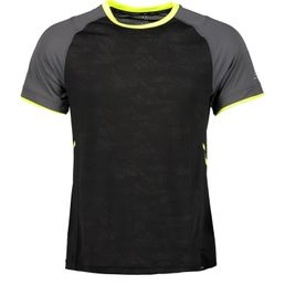 Pro Touch Herren Laufshirt Funktionsshirt kurzarm Akin ux black night/yellow light