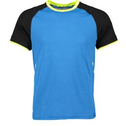 Pro Touch Herren Laufshirt Funktionsshirt kurzarm Akin ux blue royal/black/yellow light