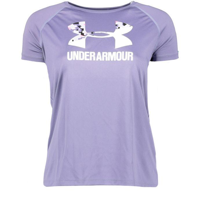 Under Armour Sportshirt T-Shirt Mädchen BIG LOGO TEE SOLID SS purple