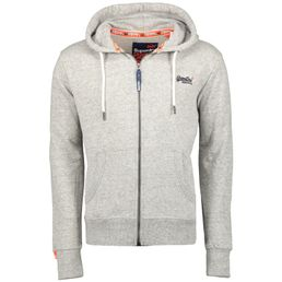 Superdry Orange Label Lite Ziphood Herren Sweatjacke track grey