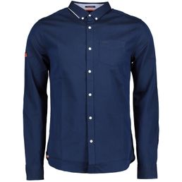 Superdry Premium University Oxford Shirt Herren Hemd indigo