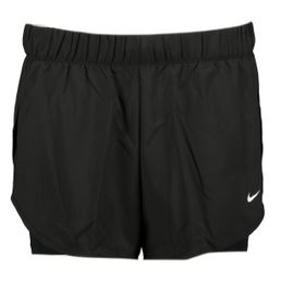 Nike Shorts 2IN1 Damen FLEX 2IN1 SHORT WOVEN black/white