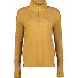 Nike Laufshirt langarm Damen ELEMENT TOP HALFZIP club gold/weath/heather