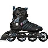 K2 Alexis 84 Speed Alu Inline Skates Damen black/steel blue – Bild 1