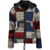 Shakaloha W Patch ZH Strickjacke Damen grey navy red – Bild 1