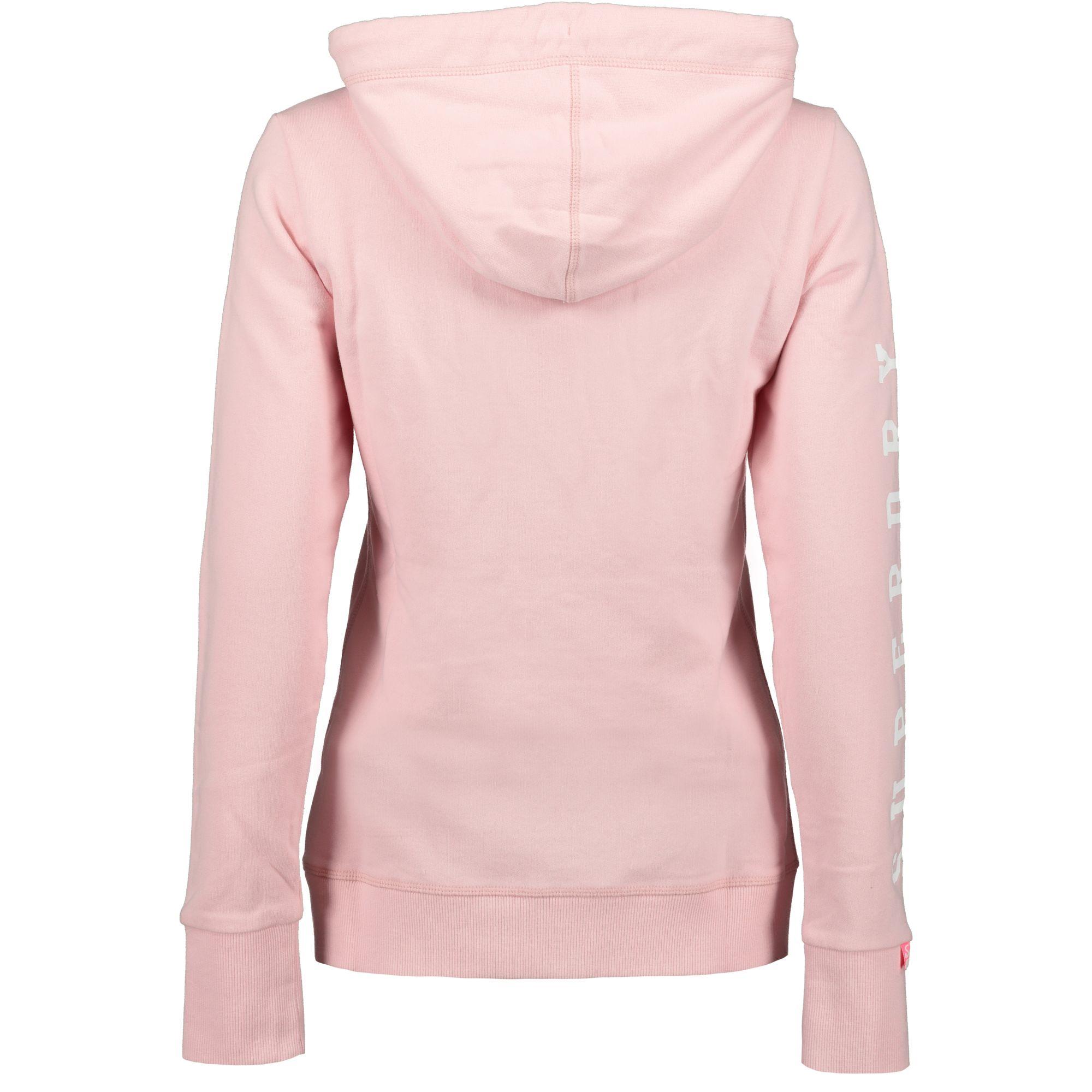 innovative design 93a72 2baa6 Superdry Track and Field Lite Ziphood Sweatjacke Damen fade pink