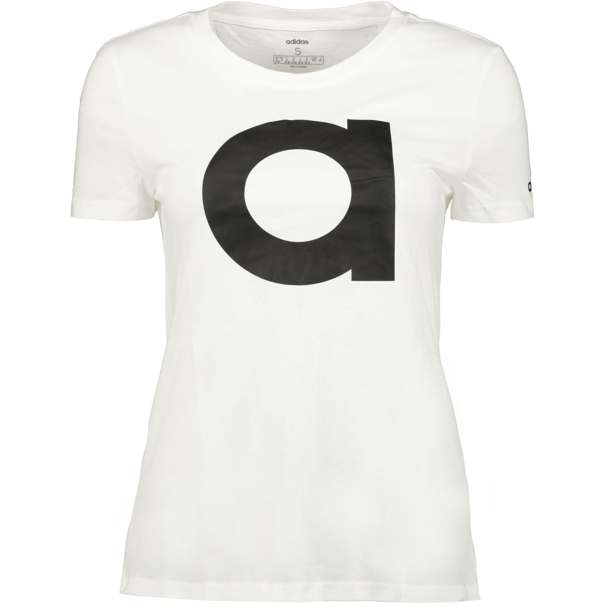 c6f204035ebab adidas performance W E Brand Tee Damen Freizeitshirt white/black ...