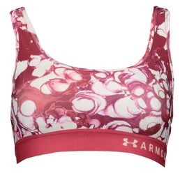 Under Armour Mid Crossback Print Sport BH impulse pink