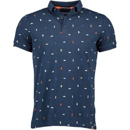 Superdry City State Embroidery Poloshirt Herren mini aztek navy