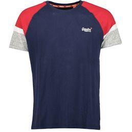 Superdry 0 L ENG'D Sleve BSEBLL S/S Tee Freizeit T-Shirt Herren beach navy