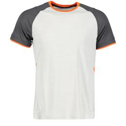 Pro Touch Akin ux  Funkitons-Laufshirt Kurzarm Herren grey light/black night/orange dark