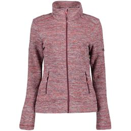 McKINLEY Ira Damen Fleecejacke melange/red wine