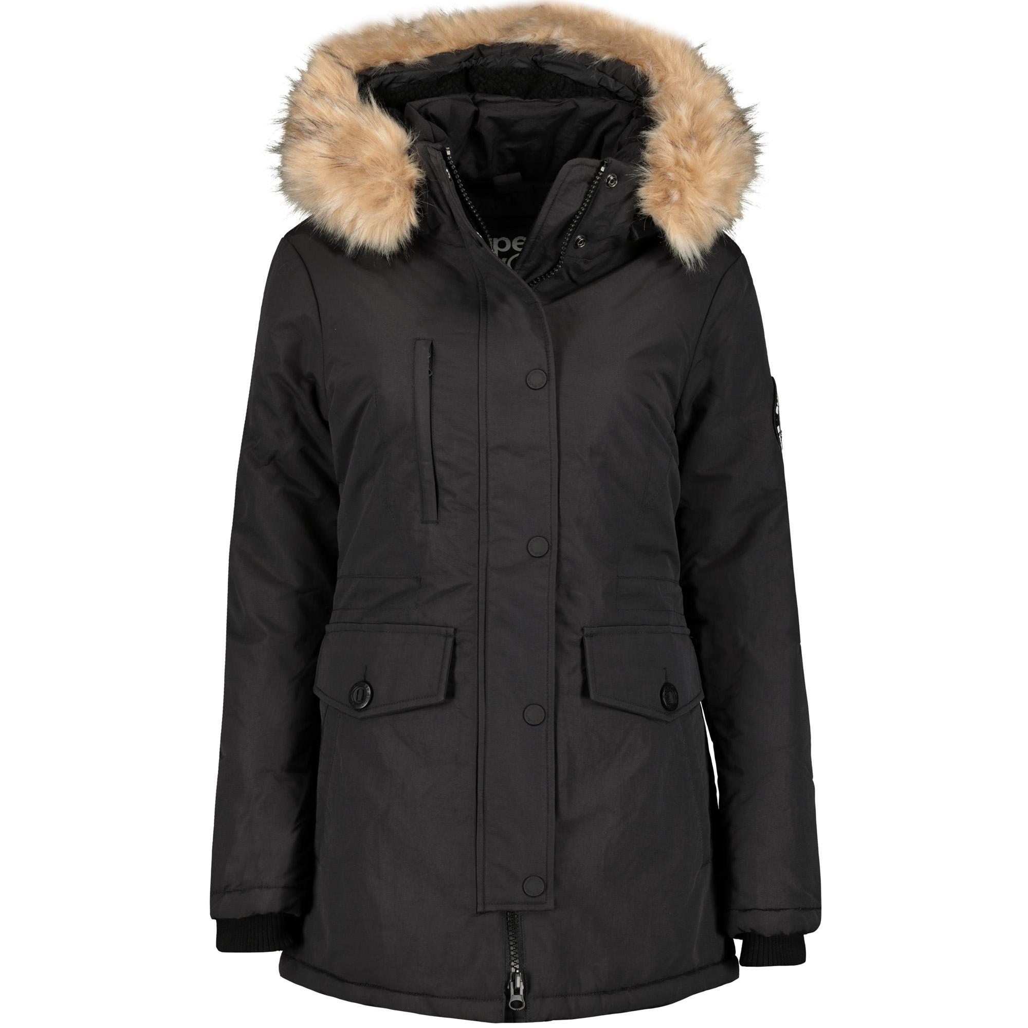 online retailer a7478 b9c49 Superdry Ashley Everest Parka Damen Winterjacke black Women Jacken & Mäntel  Winterjacke