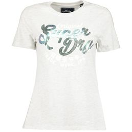 Superdry New Org Mock Sequin Entry Tee Damen T-Shirt ice marl