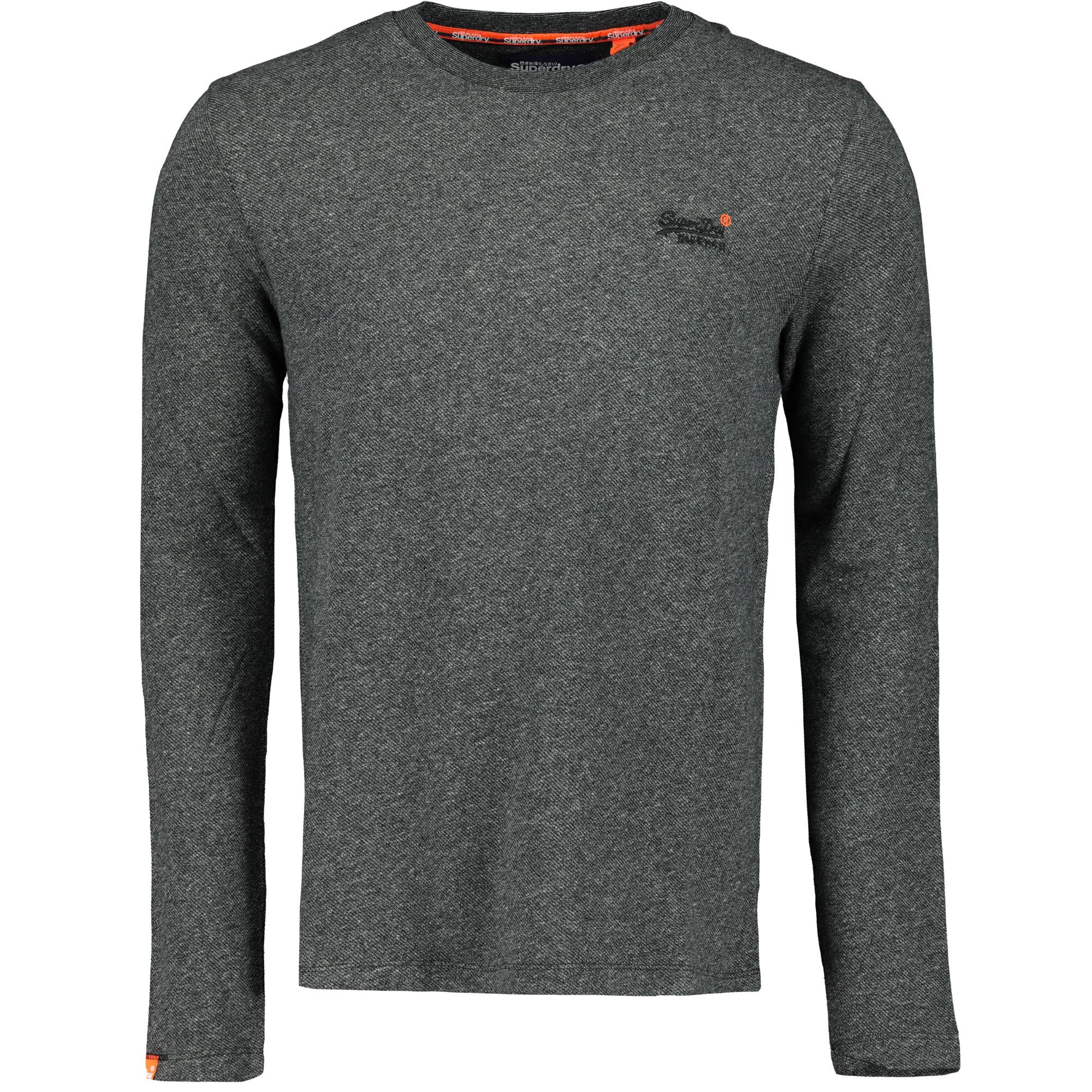 uk availability ed968 153ed Superdry Orange Label Twill Texture LS Herren Pullover basalt grey twill  Men Pullover & Sweats Rundhalspullover