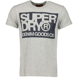 Superdry Denim Goods Tee Herren Freizeit T-Shirt grey marl