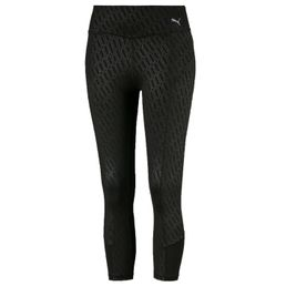 Puma Bold Graphic 3/4 Tight Fitnesshose Damen 3/4 Länge black-emboss