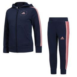 adidas performance Hooded Trainingsanzug Trainingsanzug Mädchen Tech Indigo/ Glory Pink /Core Pink