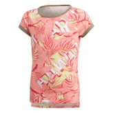 adidas performance The Pack T-Shirt Sportshirt kurzarm Mädchen white/pink/yellow  001