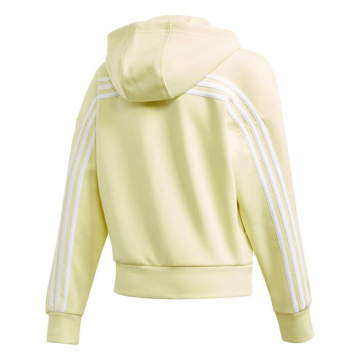 adidas performance Must Haves 3 Stripes Hood Sweatjacke Mädchen yellow
