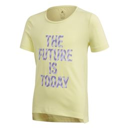adidas performance The Future Today T-Shirt Sportshirt T-Shirt Mädchen Yellow Tint/White