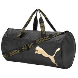 Puma AT ESS Barrel Bag Sporttasche puma black/metallic gold