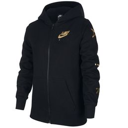 Nike Air Fleece Sweatjacke Mädchen Kinder black/metallic