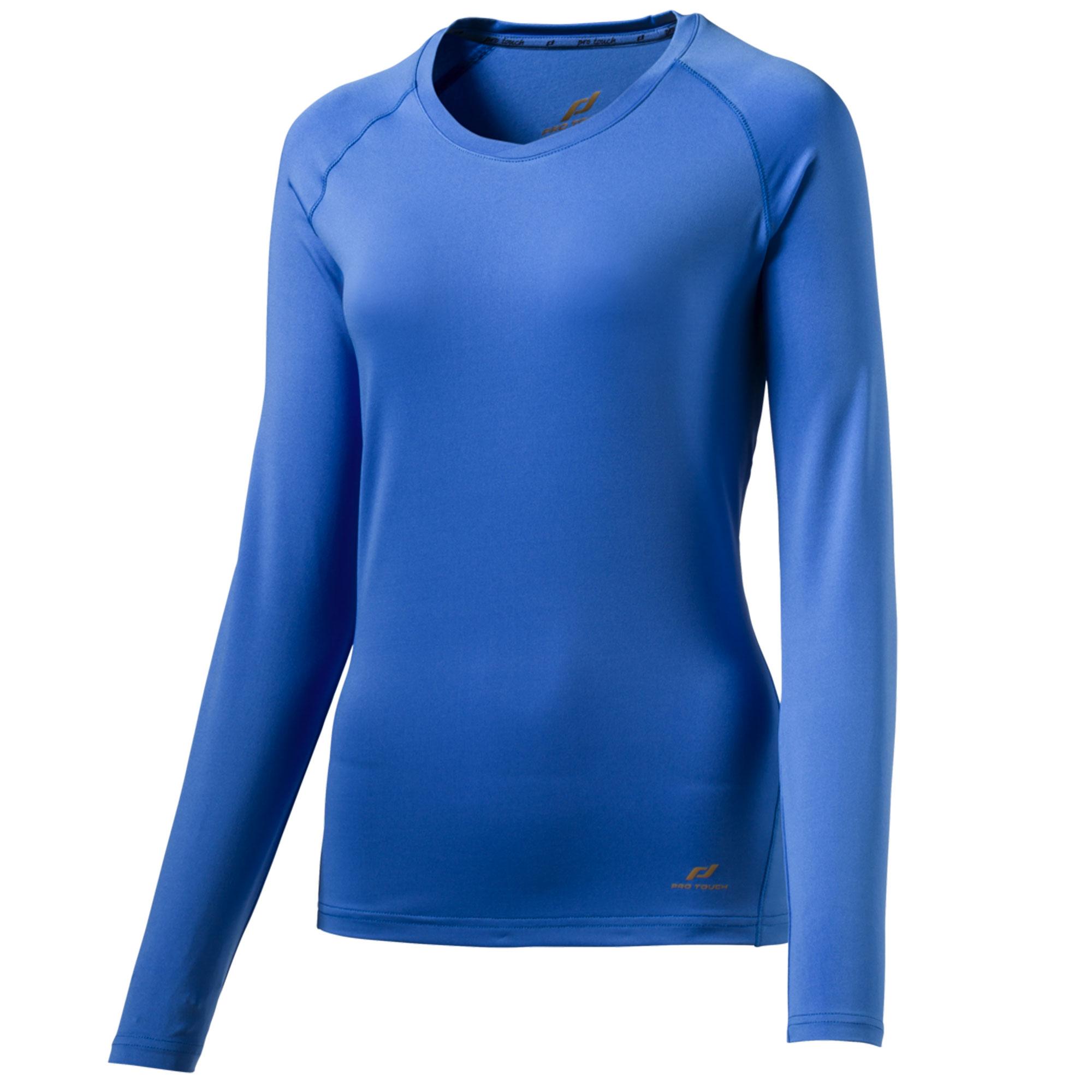 Pro Touch Wilma wms Funktionsshirt Laufshirt langarm Damen melange//blue aqua