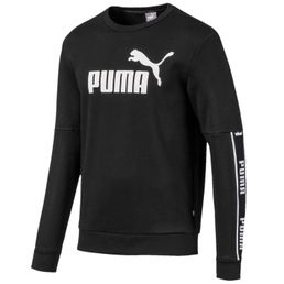 Puma Amplified Crew Fleece Sweatshirt Rundhalspullover Herren black