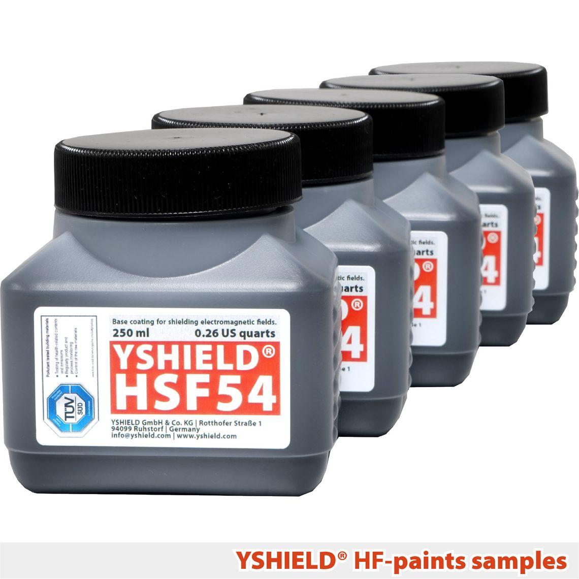 YSHIELD® Sample set HF shielding paints   4x 250 ml