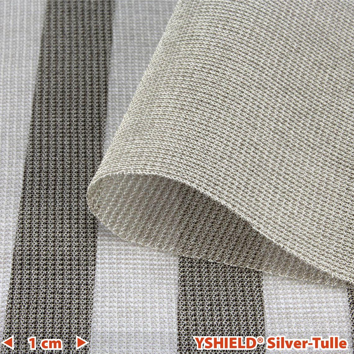 YSHIELD® SILVER-TULLE   Shielding fabric   Width 130 cm   1 meter
