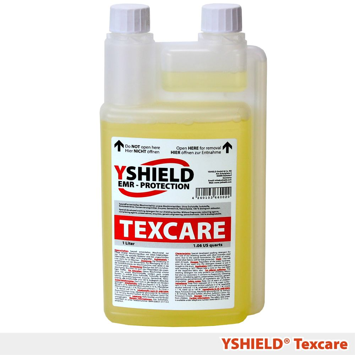 YSHIELD® Liquid detergent TEXCARE for shielding fabrics | 1 liter
