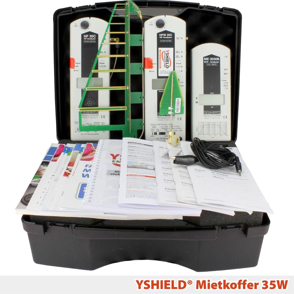 YSHIELD® 35W   Mietkoffer   Miete 7 Tage