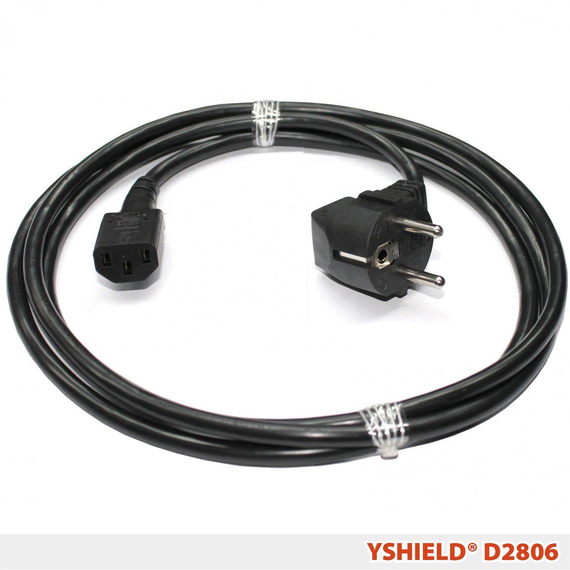 D2806 | Shielded power cord | 2 m black